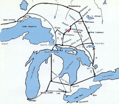 Red Lake Ontario Map Red Lake Ontario Outposts